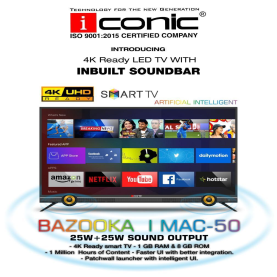 Iconic 50 Inches 4K HD HRD Ultra HD Smart LED Television